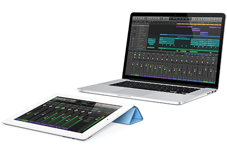Logic Pro X includes a remote control app for the iPad