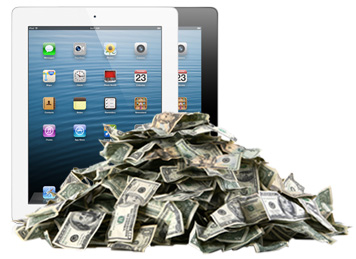 iPad sales are strong, but down. Developers still get to sell lots of apps.