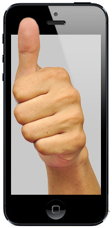 The iPhone 5S may include a fingerprint scanner
