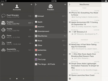 Reeder 2 brings back iPad support