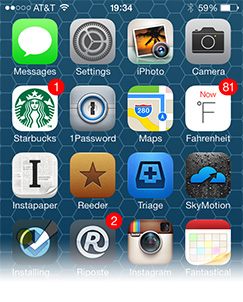Apple's iOS 7 sports a new yet familiar look