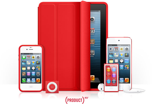Apple's 2013 (RED) Product Line