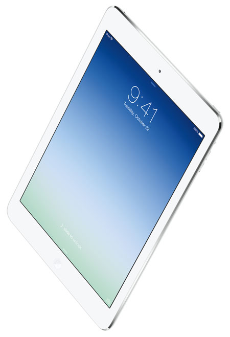 Apple's new iPad Air will be in stores at 8AM on Friday, November 1