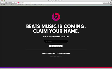 Beats Music: Coming in January