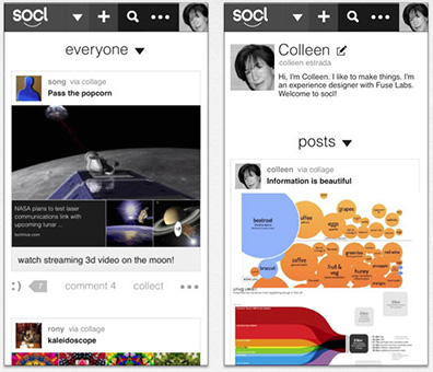 Microsoft adds an iPhone app to Socl... when did Microsoft get a social networking service?