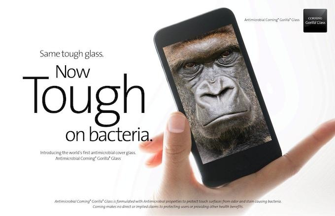 Gorilla Glass Antimicrobial