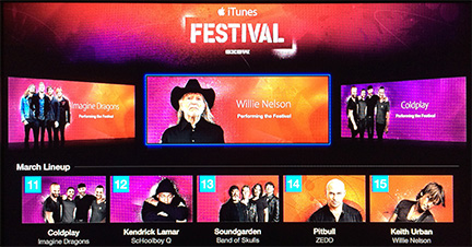 SXSW iTunes Festival channel now on Apple TV