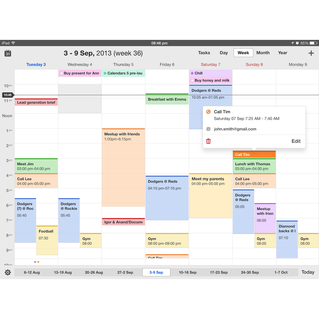 Readdle's Calendars 5 Free through Monday