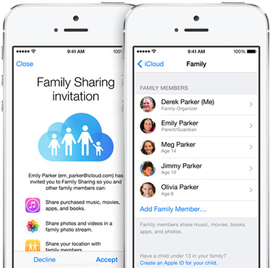 Apple makes media and schedule sharing easier in iOS 8's Family Sharing