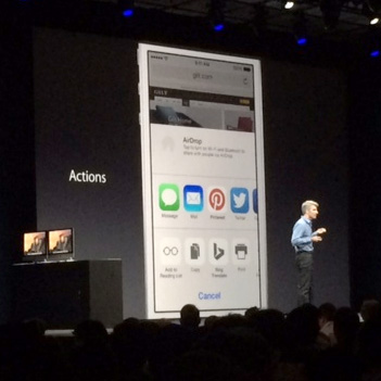 Apple's Craig Federighi shows off iOS 8 features at WWDC