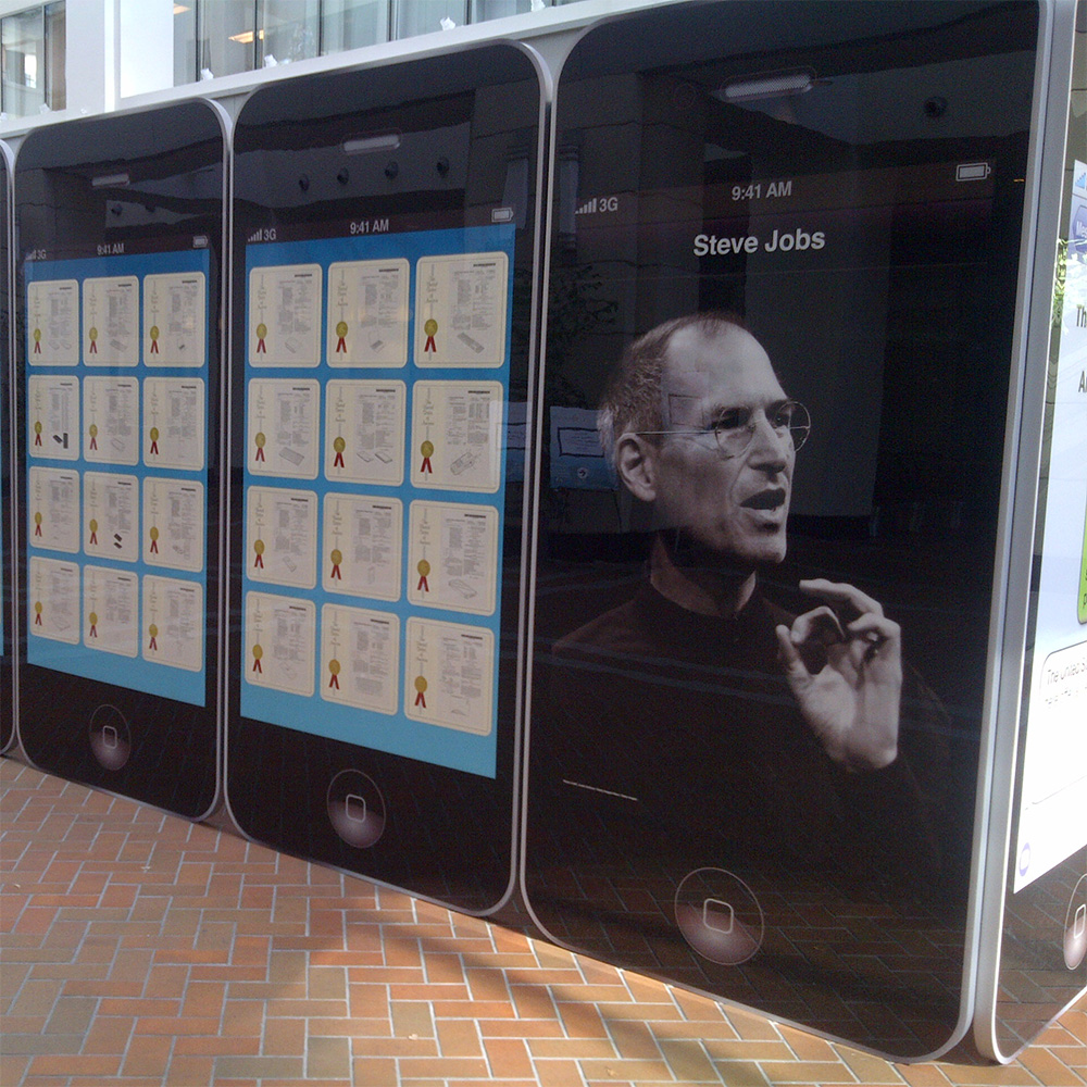 The traveling Steve Jobs patent exhibit makes its way to Denver, Colorado