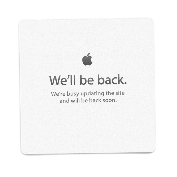 Apple's online store was replaced with the familiar