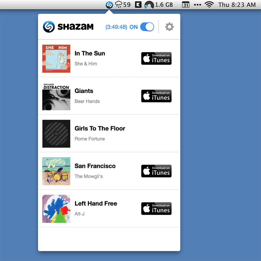Shazam comes to the Mac