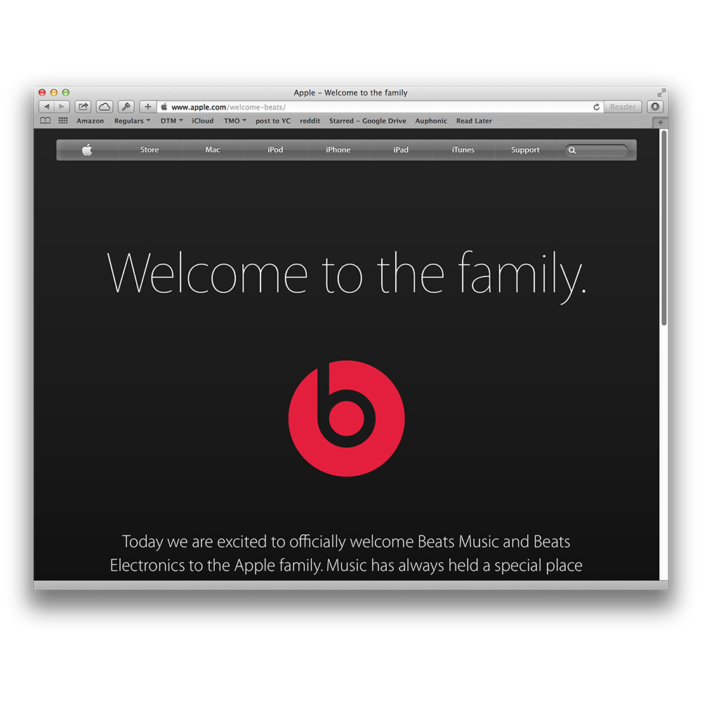 Beats gets an official welcome to the family from Apple
