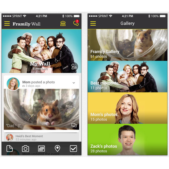 Sprint's Framily Wall social sharing service now available to iPhone owners