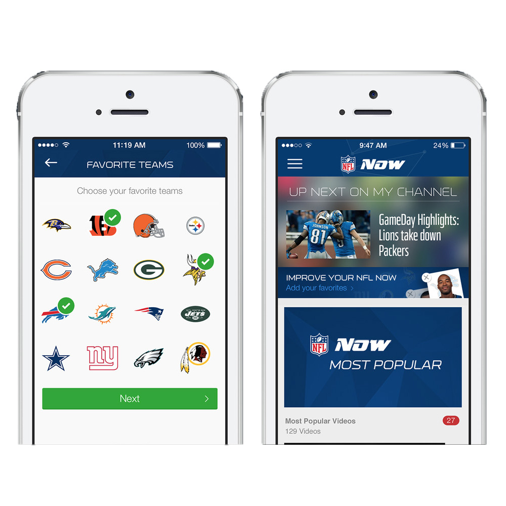 NFL Now comes to the iPhone, iPad, and Apple TV
