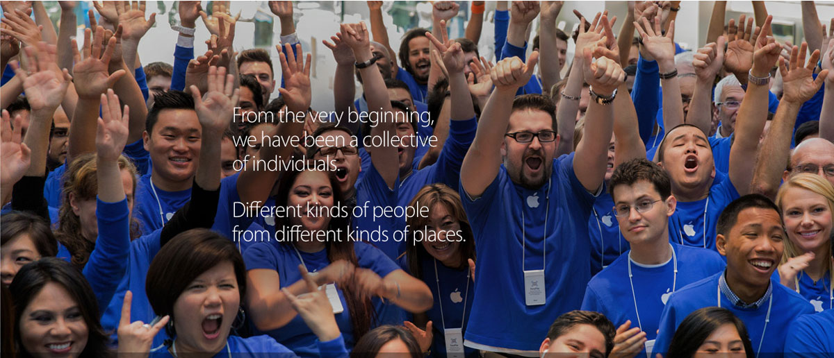 Apple Promotional Image from Its Diversity Report