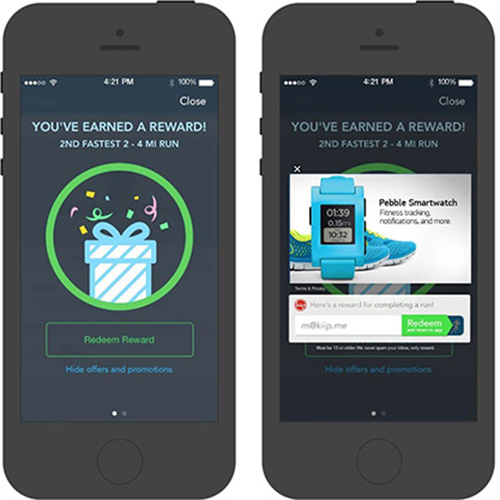 RunKeeper is using an ad-like reward system to help improve our fitness levels