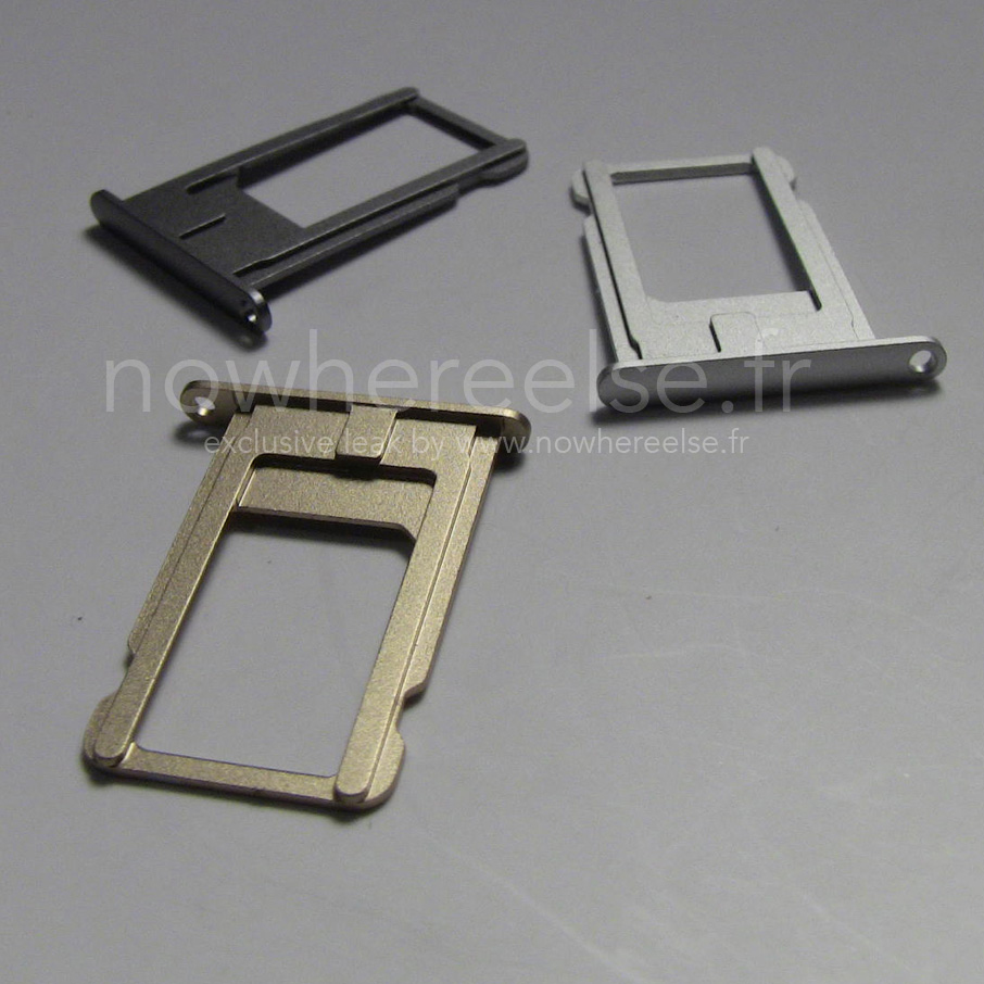 iPhone 6 SIM card trays. Photo courtesy Nowwhereelse.fr