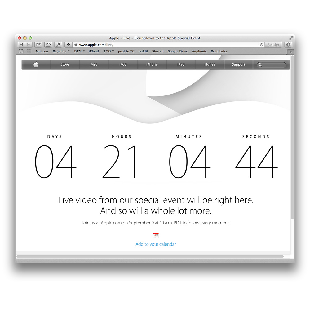 Apple to live stream September 9 media event