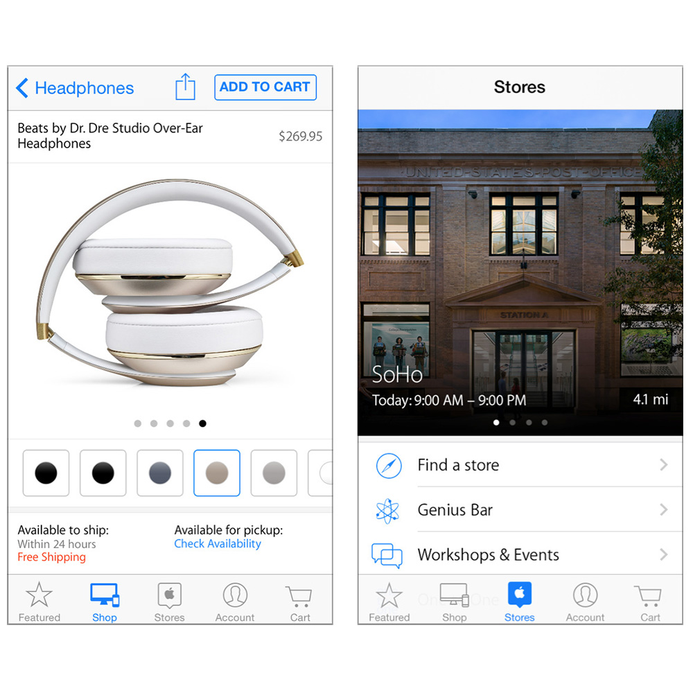 Apple Store app gets a facelift and new features