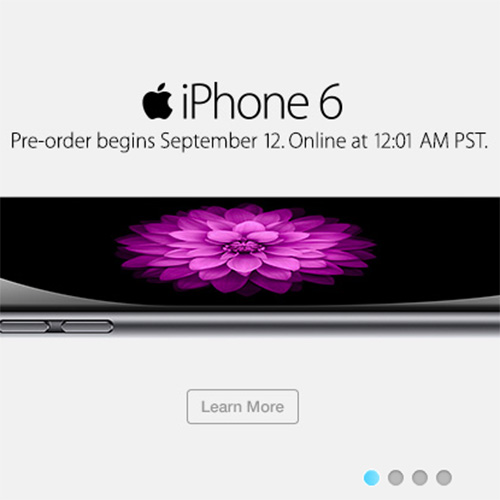 iPhone 6 pre-orders start at 12:01AM pacific time Friday