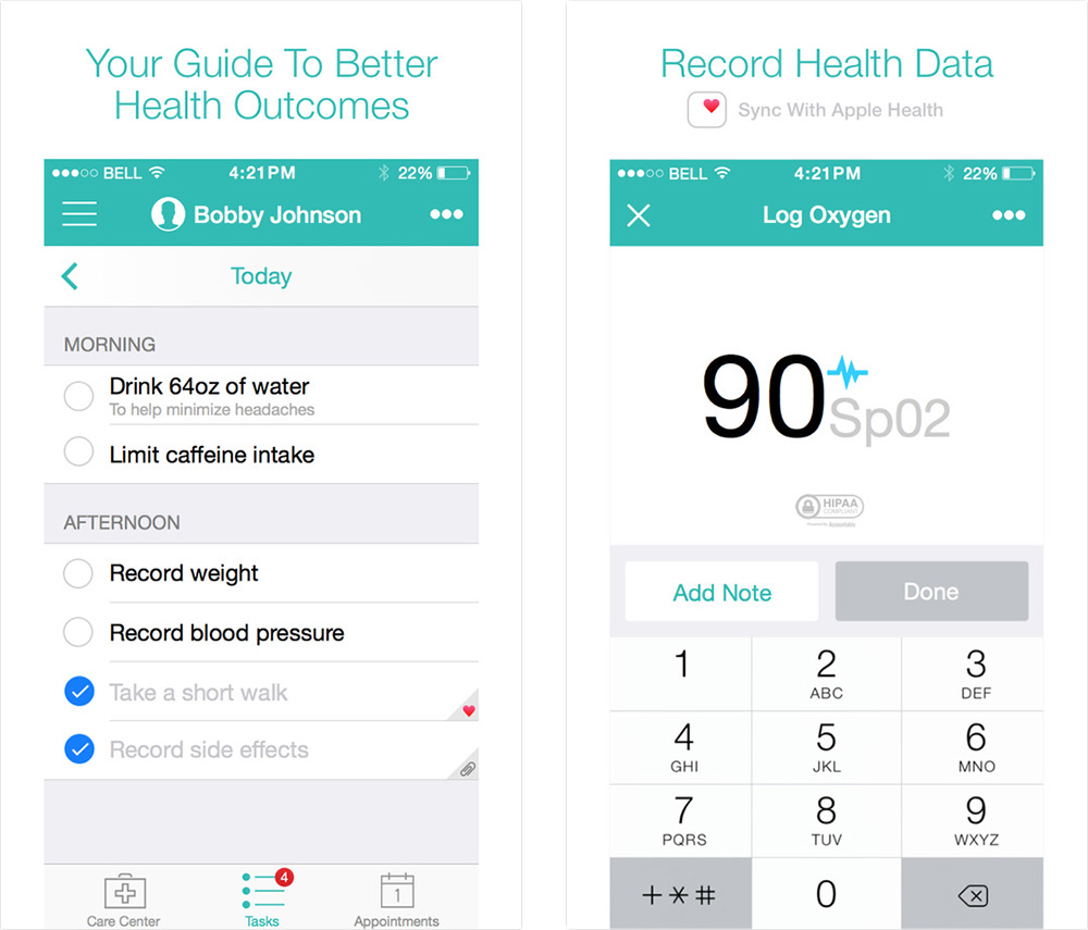 Patient IO links to Health to share medical data with your doctors
