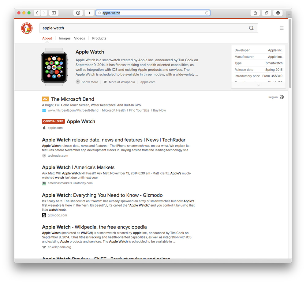 DuckDuckGo isn't the same as Google, and that's exactly the point