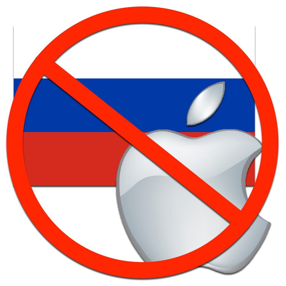 Dropping ruble prompts Apple to stop online sales in Russia