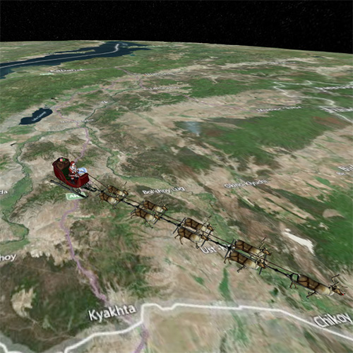You can track Santa's route from your iPhone, iPad, or Mac