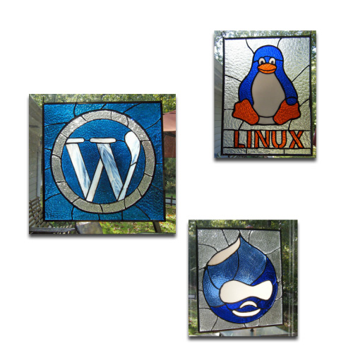 Stained Glass Logos: Taking Your High Tech Logo Old School