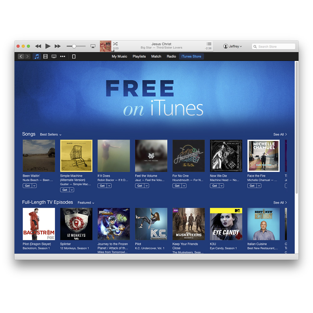 The new Free on iTunes...