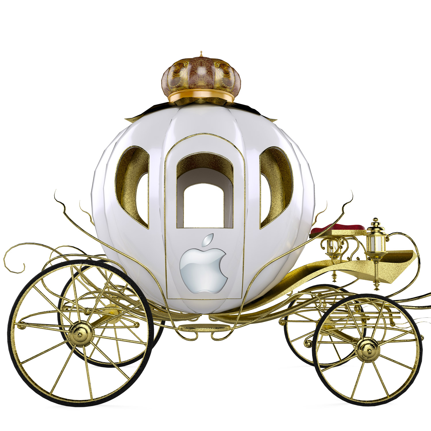 Carriage with Apple Logo