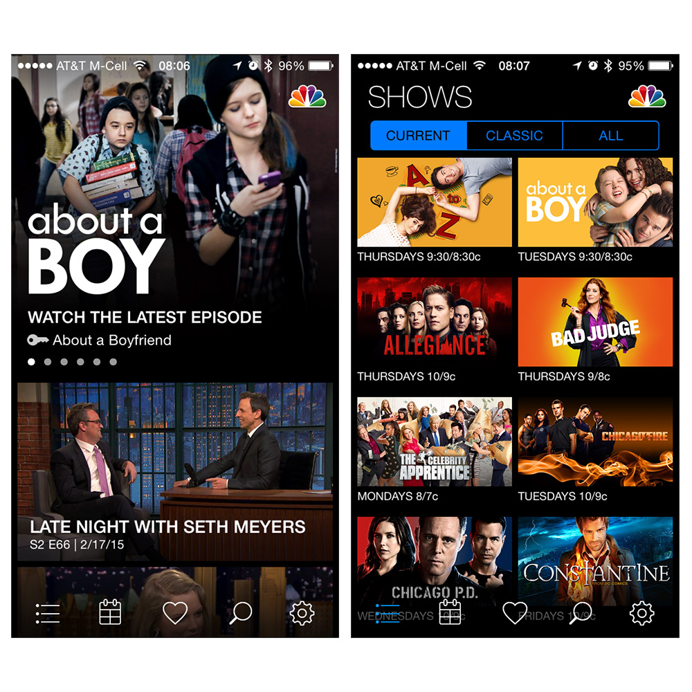 NBC adds live streaming to iPhone and iPad apps
