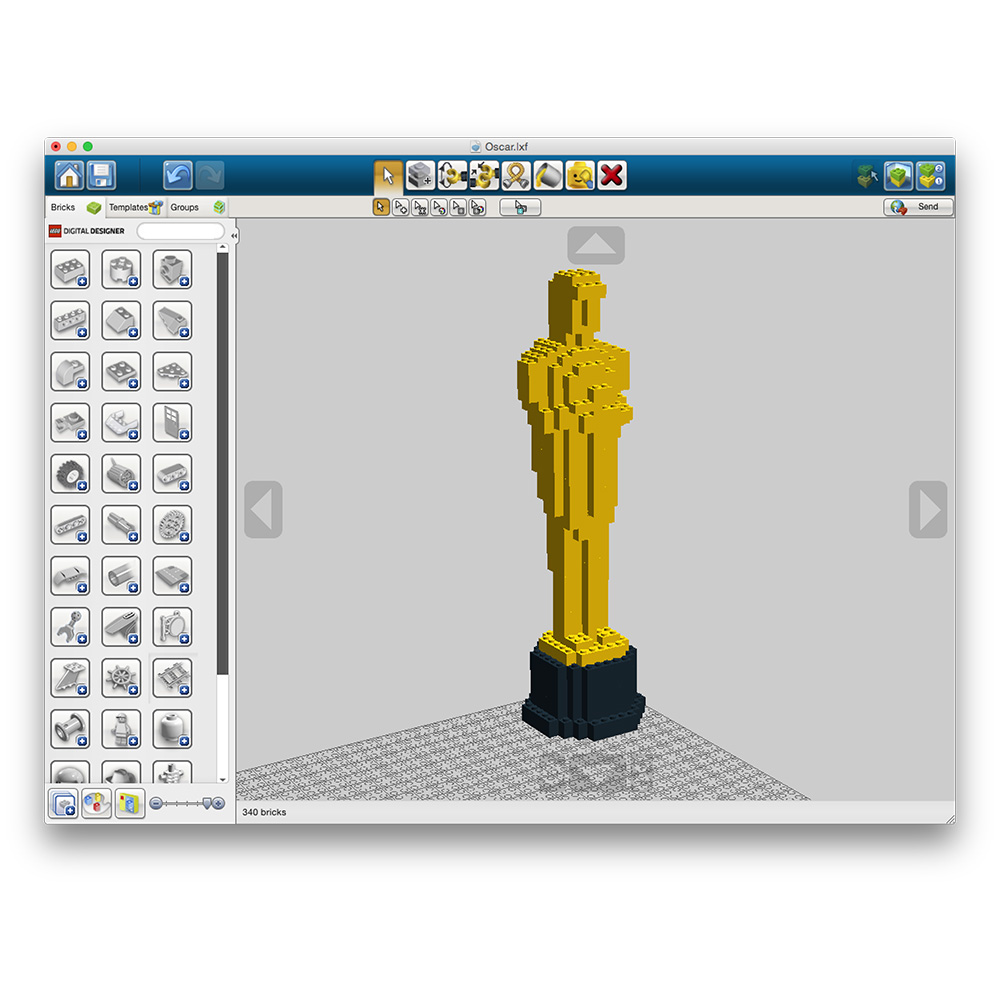 Build Your Own LEGO Oscars Statue