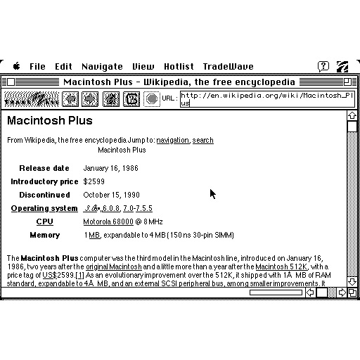 How to Surf the Web on a Mac Plus