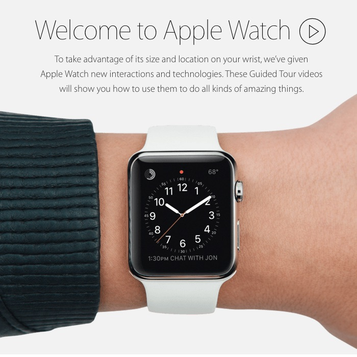 Apple adds more Apple Watch guided tours to its website