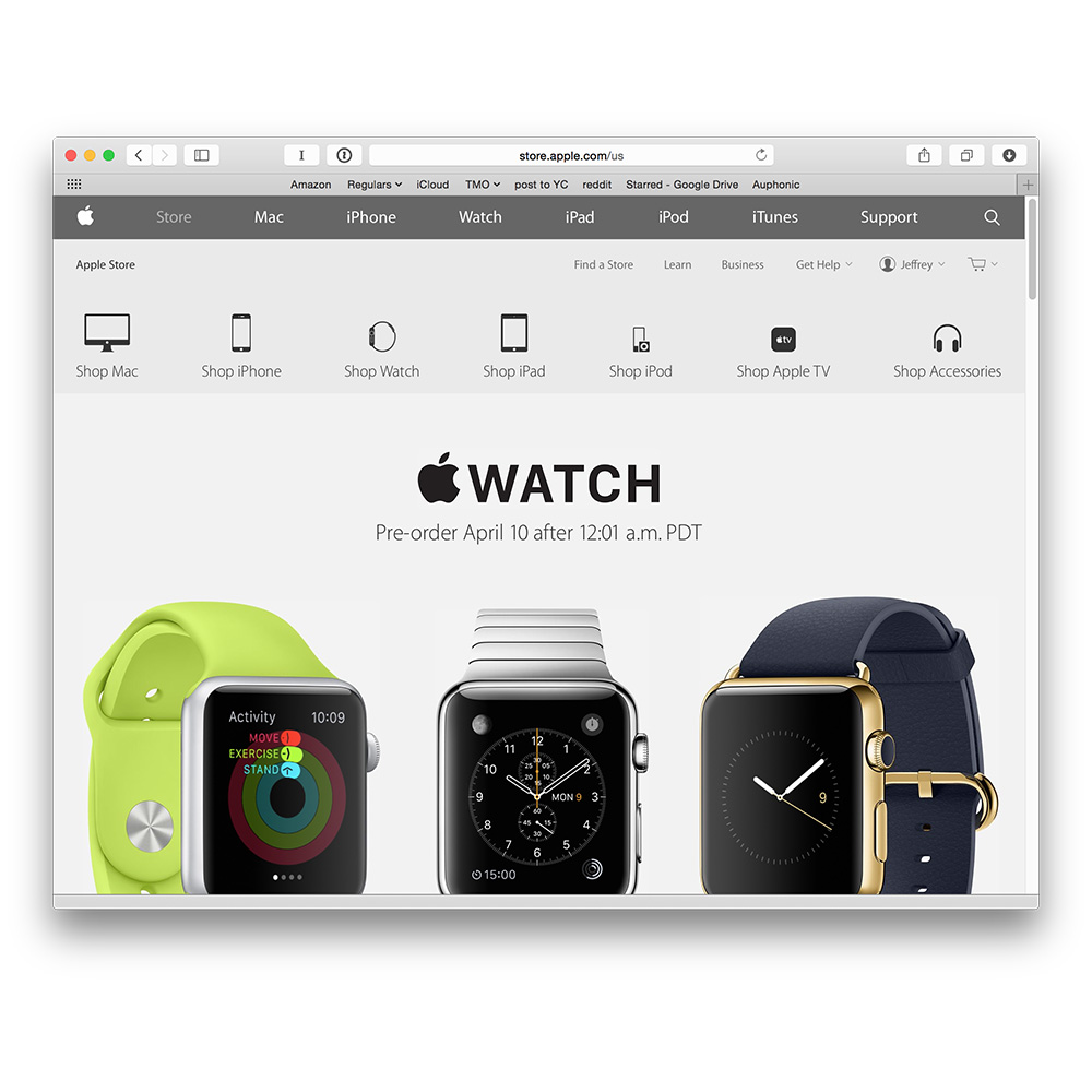 Apple Watch pre-orders start April 10 just after midnight pacific time