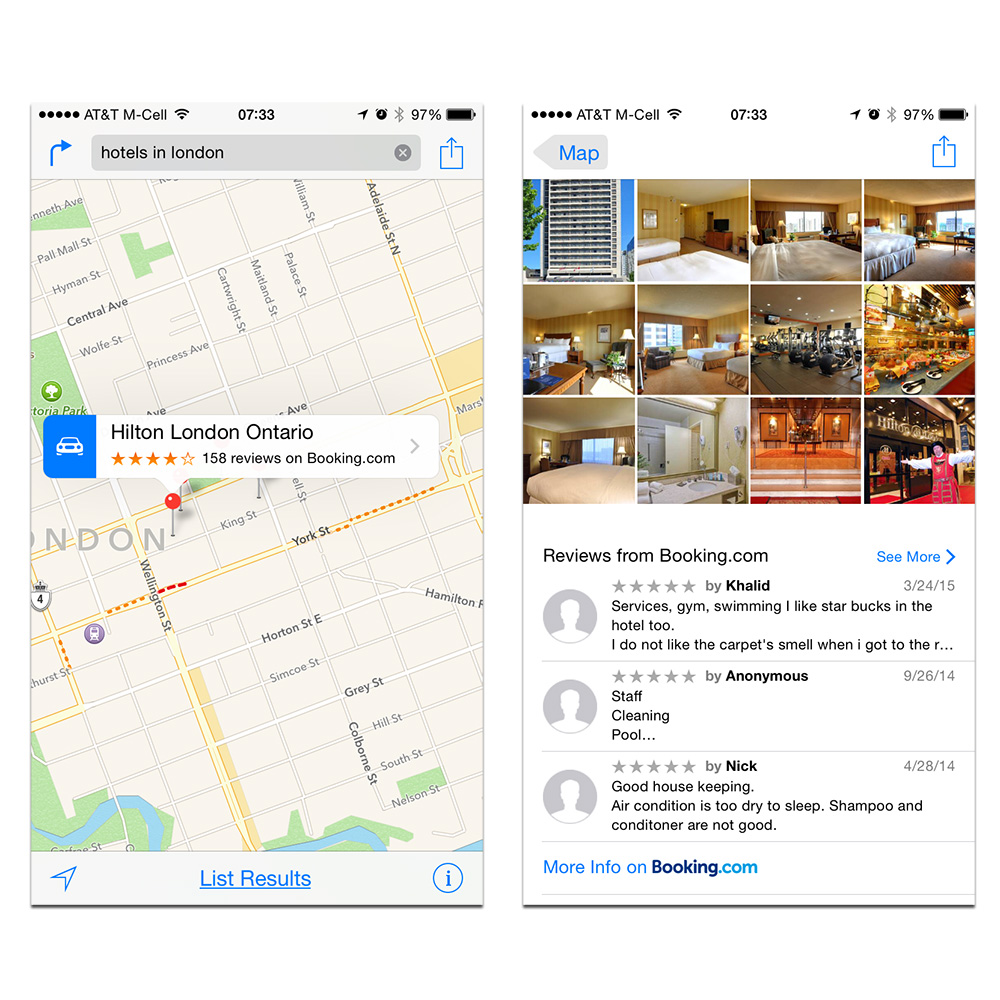 Maps hotel reviews now include Booking.com, TripAdvisor