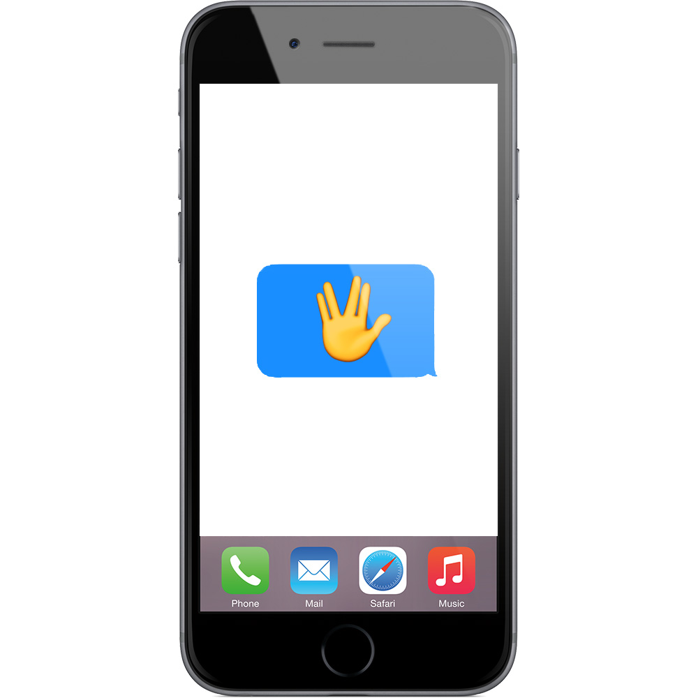 Spock's Vulcan salute gets immortalized in emoji