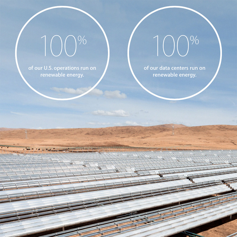 Apple highlights its environmental efforts