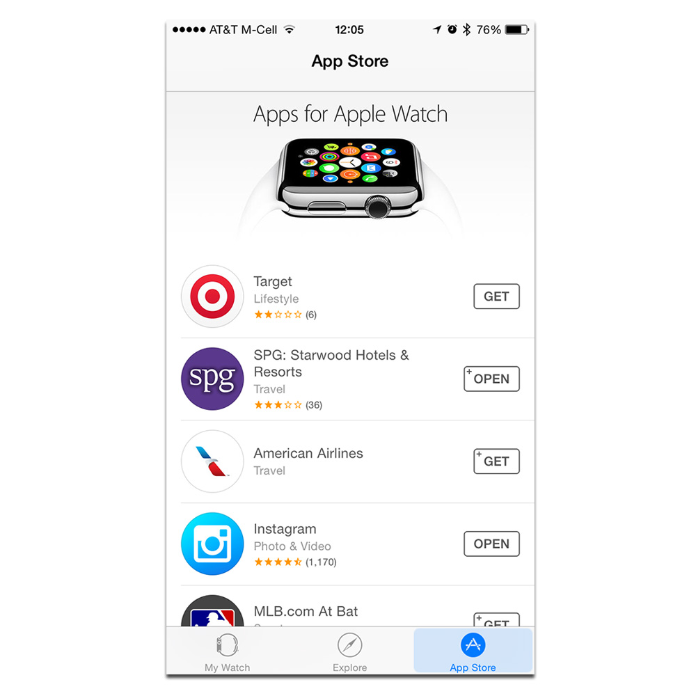 Check the Apple Watch app to find a list of compatible apps