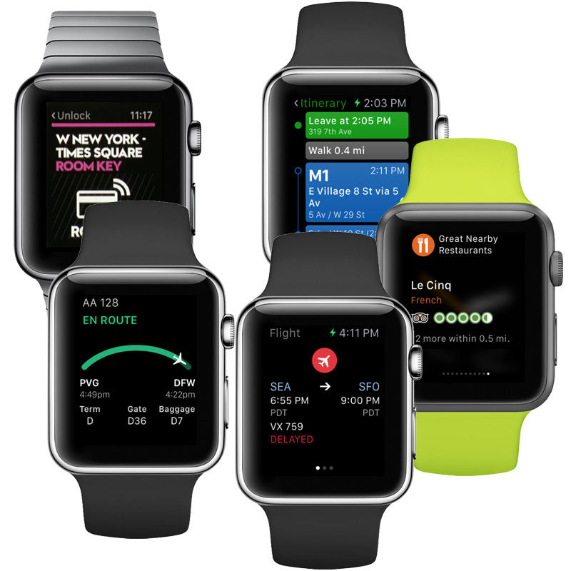 Manage your travels from your wrist with these Apple Watch apps