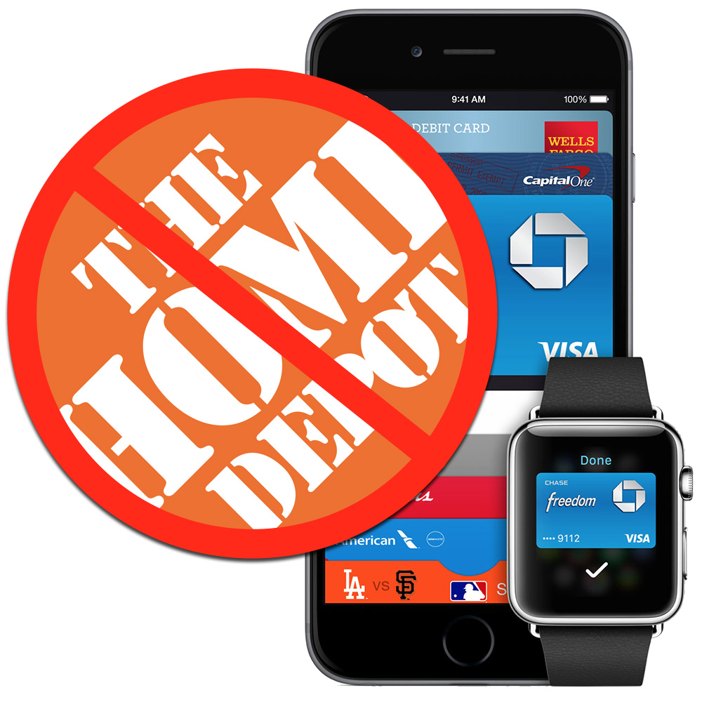 Home Depot to customers: No Apple Pay for you