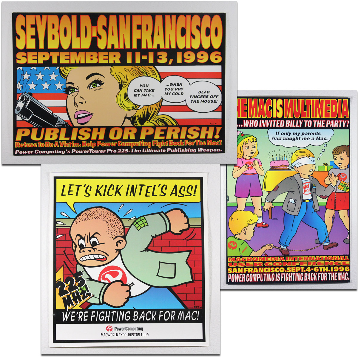 Rare Power Computing Posters by Frank Kozik - Fight for the Mac!