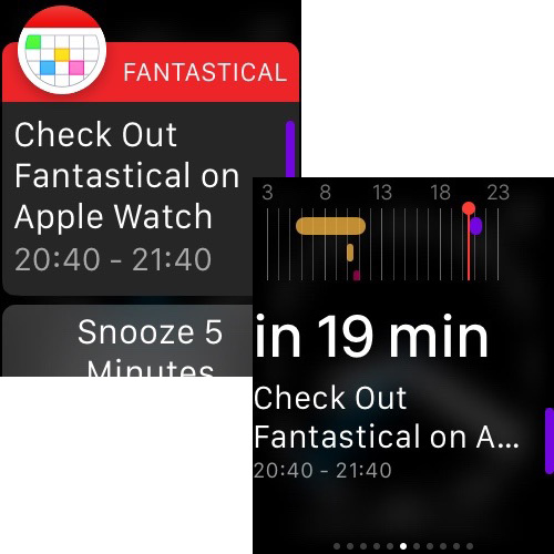 Fantastical 2, now for Apple Watch