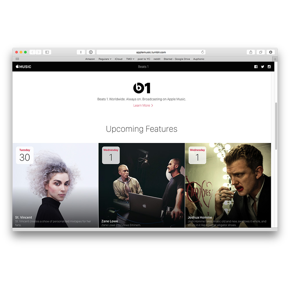 Beats 1 Internet radio schedule gets its own Tumblr page