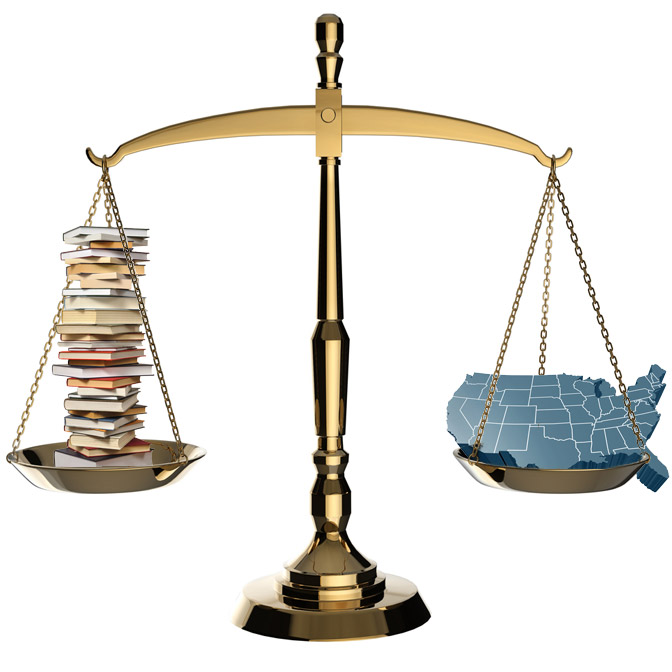 Scales of Justice, U.S., and Books