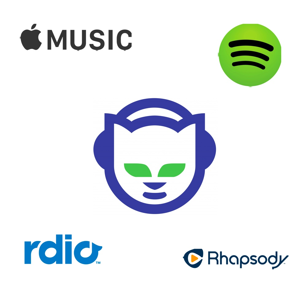 Apple Music, Spotify, Rdio, Rhapsody and Napster