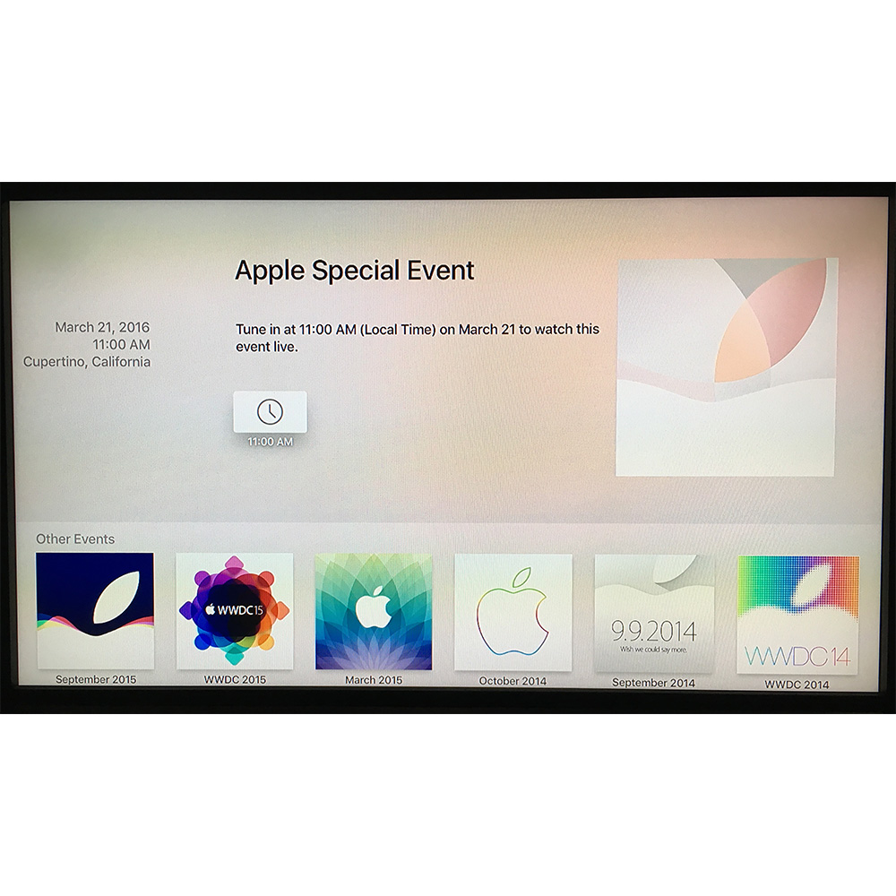 Apple TV gets an Apple Events app